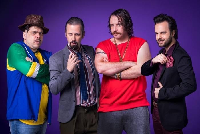 Renan, Rogerinho, Julinho e Maurílio formam o elenco do 'Choque de Cultura Show'