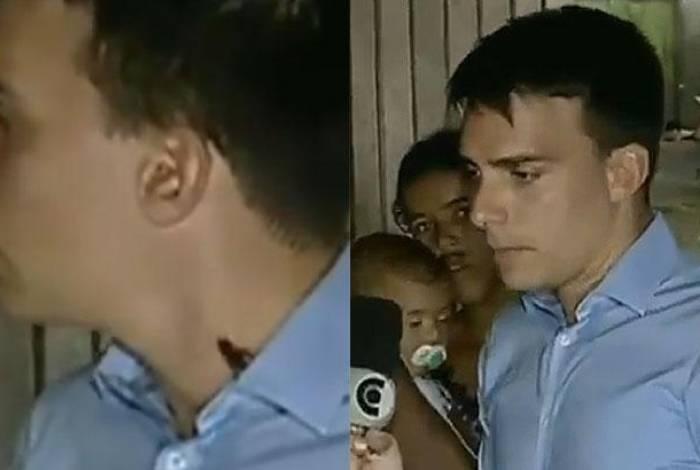 Barata sobe no pescoço de repórter durante entrevista ao vivo no 'Balanço Geral PE'