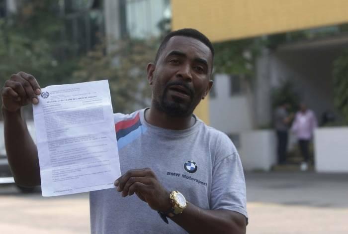 Edivan dos Santos esteve ontem no IML para exame de corpo de delito