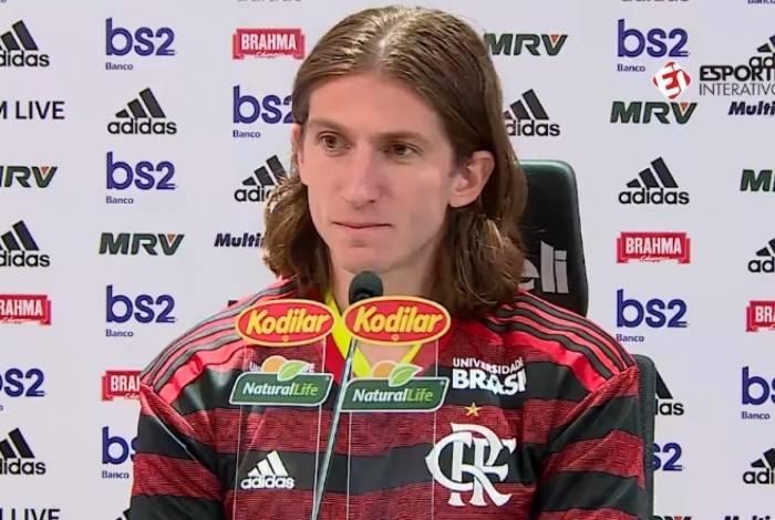 Filipe Luís chegou ao Flamengo