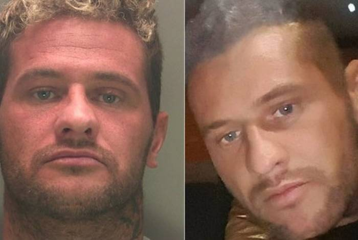 Stephen Murphy na foto divulgada pela polícia (à esquerda) e na que ele sugeriu
