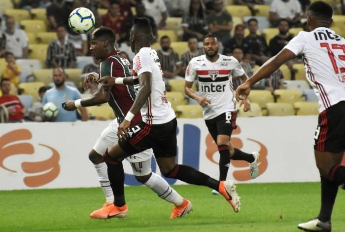 Yony González fez o gol do Fluminense, mas a equpe decepcionou a sua galera no fim da partida