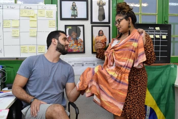 Felipe Piragibe e Natália Moretz-Sohn, da marca de roupas plus size Naiah, decidiram apostar no atacado a partir das orientações dos mentores da incubadora Rio Criativo