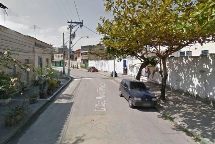 Rua João de Deus Freitas, onde ocorreu a tentativa de assalto