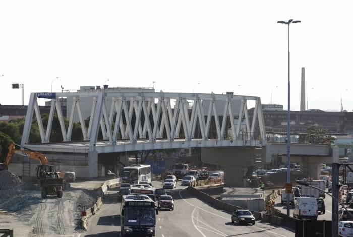 O Transbrasil seguirá do Caju à Rodoviária Novo Rio por um viaduto com 160 metros de comprimento