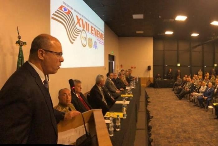 Witzel participou do 17º Encontro Nacional de Entidades de Oficiais Militares Estaduais