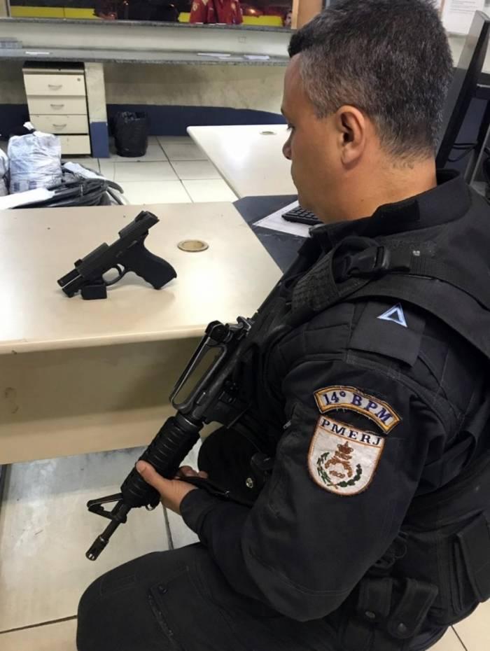 Arma apreendida foi encaminhada para a 35ª DP (Campo Grande)