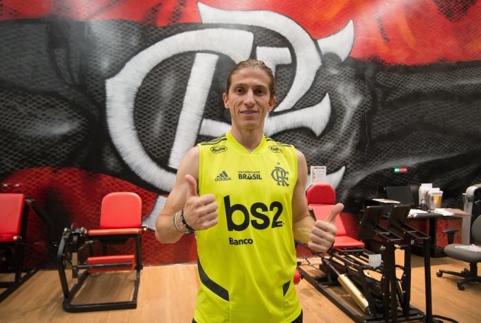 Após sair do Atlético de Madrid, o lateral Filipe Luís está confiante para a estreia pelo Flamengo