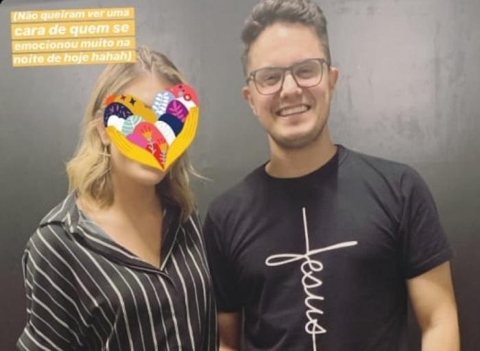 Lorena Improta e o pastor Deive Leonado