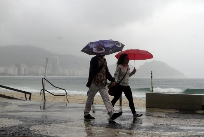 Rio,03/08/2019 - COPACABANA- Frente fria e ressaca no Rio de Janeiro. Na foto. Foto: Cléber Mendes/Agência O Dia