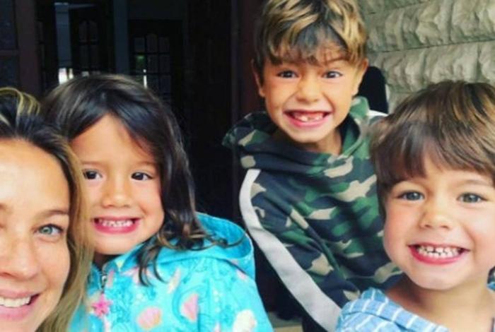 Luana Piovani e seus filhos