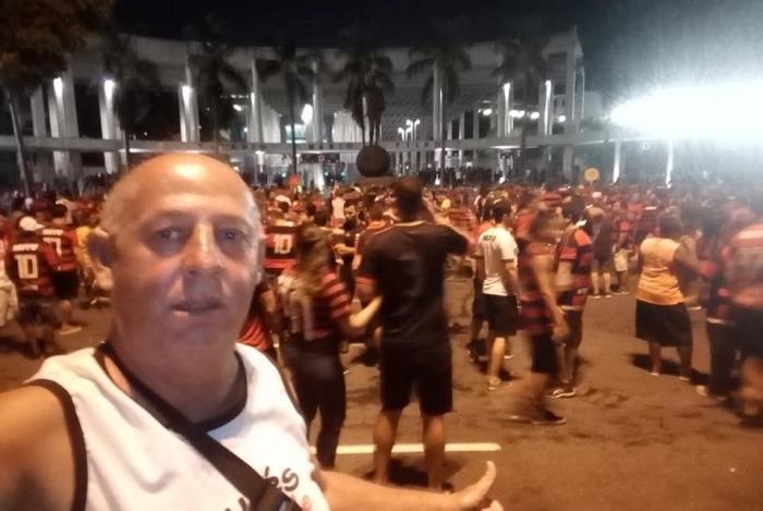 Roberto Vieira de Almeida em jogo do Flamengo