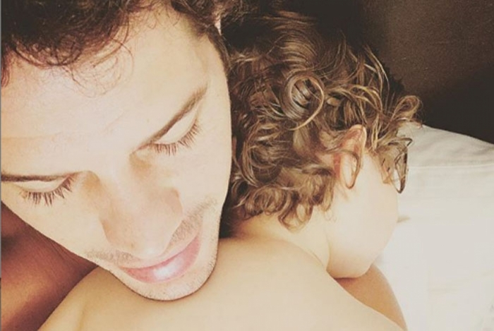 José Loreto e a filha
