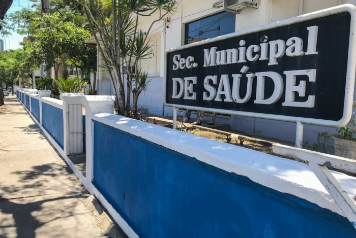 Fachada da Secretaria de Saúde de Campos