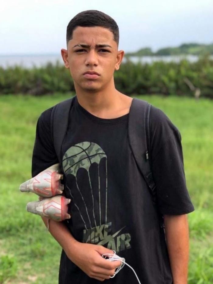 Dyogo Xavier Coutinho tinha 16 anos
