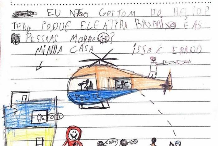 Em cartas, crianças pedem fim da violência na Maré. Redes da Maré/Divulgação