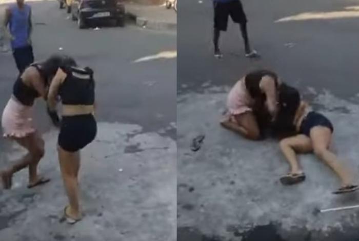 Confusão entre duas jovens foi gravada e divulgada nas redes sociais