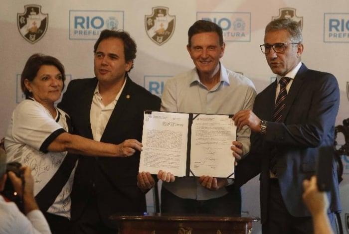 Terreno onde será construído o centro de treinamento do Vasco, foi cedido pela Prefeitura do Rio de Janeiro em maio