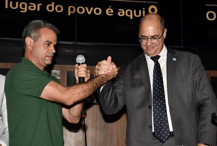 Prefeito de Nova Iguaçu, Rogerio Lisboa, e governador do Rio, Wilson Witzel