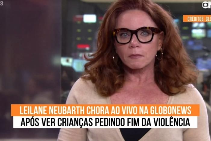 Jornalista chorou após VT sobre violência no Rio