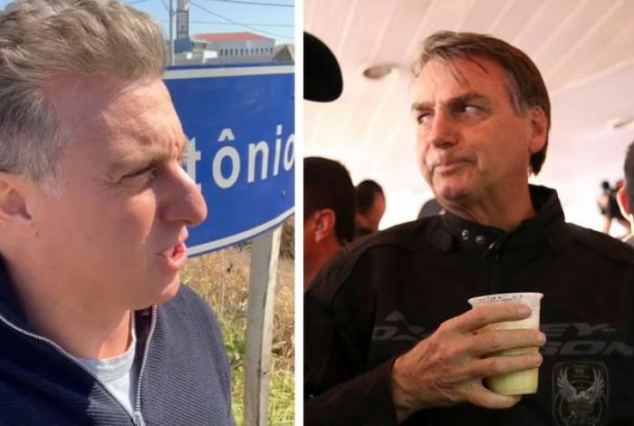 Bolsonaro reagiu à crítica de Luciano Huck ao governo federal