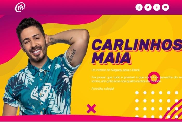 Novo site de Carlinhos Maia