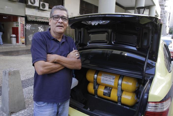 Rio,16/08/2019 -CENTRO-O Povo Fala, materia sobre GNV . Na foto,taxista, Dario Leal .Foto: Cléber Mendes/Agência O Dia