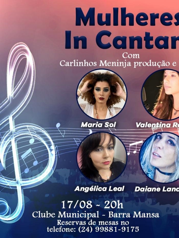 Quatro cantoras regionais sobem ao palco, num super e aguardado show