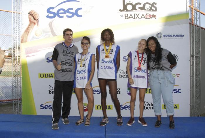 Meninas de Caxias fizeram dobradinha na prova dos 100 metros rasos