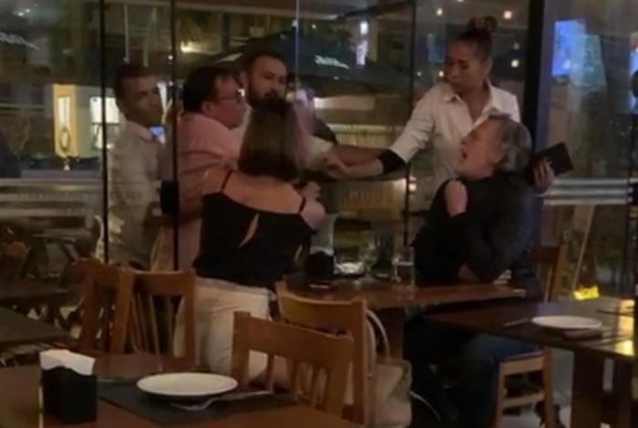 Zé de Abreu em discussão acalorada em restaurante do Rio