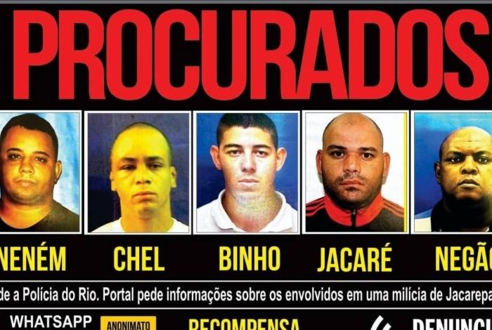 Membros procurados da milícia de Orlando Curicica