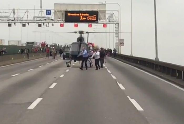 Governador comemora ação do Bope na Ponte Rio-Niterói