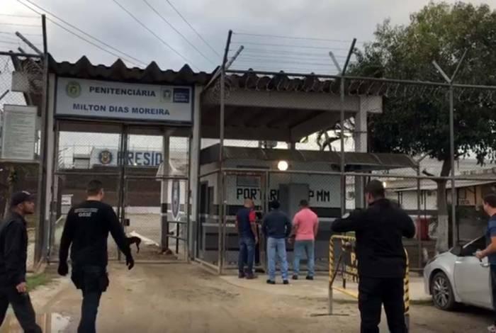 Preso da Penitenciária Milton Dias Moreira foi um dos principais alvos da ação