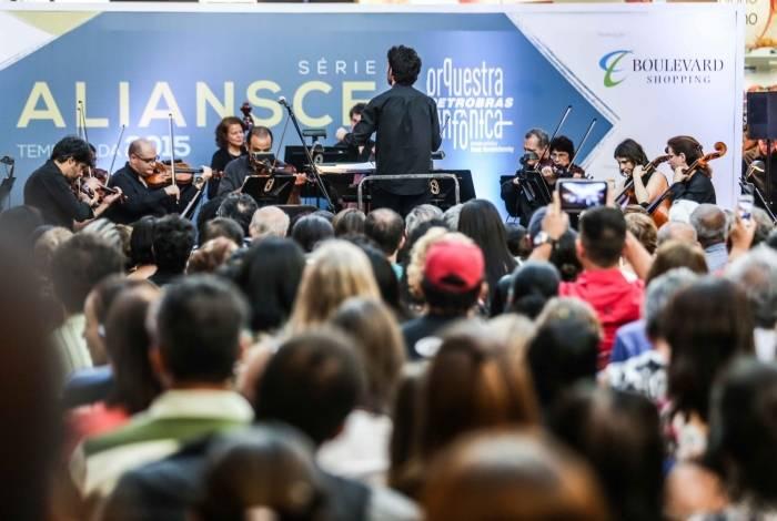 A série Aliansce Sonea traz a Orquestra Petrobras Sinfônica para apresentação no Shopping Boulevard