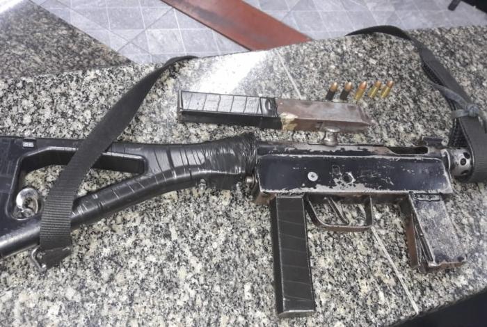 Material apreendido durante operação da Polícia Militar ontem