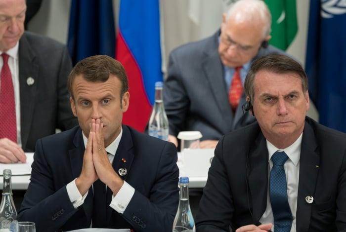 Relação entre Macron e Bolsonaro azedou de vez após comentário do brasileiro em comparação depreciativa entre esposas dos presidentes