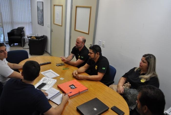 Representantes do Sind-Degase se reuniram na última quinta-feira com o diretor do departamento e o secretário de Educação