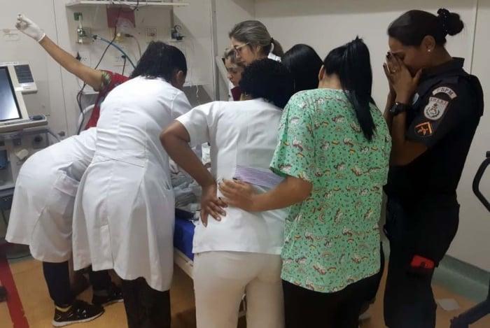 Bebê foi levado para o Hospital Infantil Darcy Sarmanho Vargas
