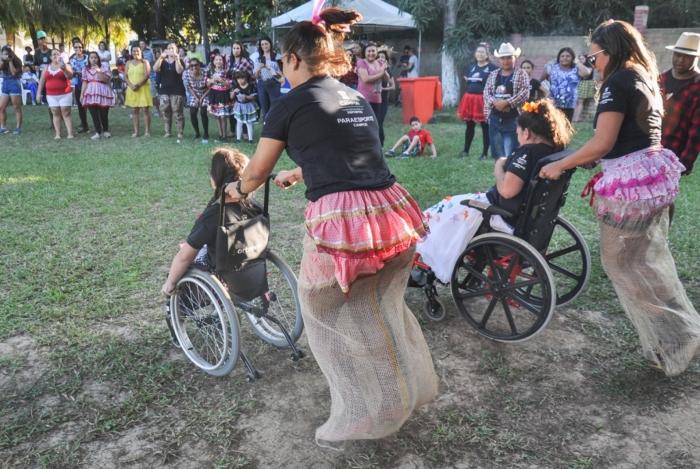 A Fundação Municipal de Esportes de Campos promove tarde de atividades, brincadeiras e esportes no Jardim do Liceu, como parte da Semana da Pessoa com Deficiência