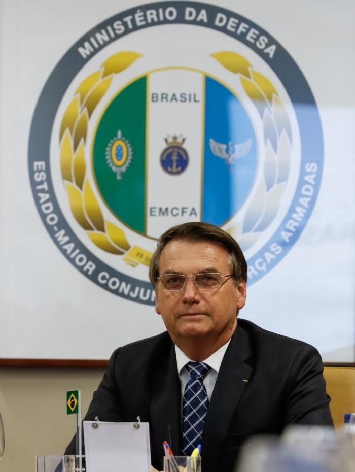 Bolsonaro teve nova reunião com o Ministro da Defesa e comandantes das Forças Armadas para falar da Amazônia nesta segunda