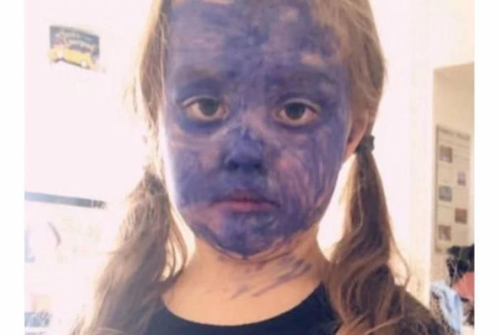 Menina de cinco anos queria ficar parecida com a personagem Vampirina