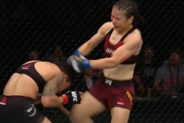 Weili Zhang superou a brasileira Bate-Estaca e se tornou campeã peso-palha do UFC