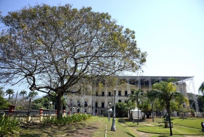 Museu Nacional na Quinta da Boa Vista, zona norte da cidade
