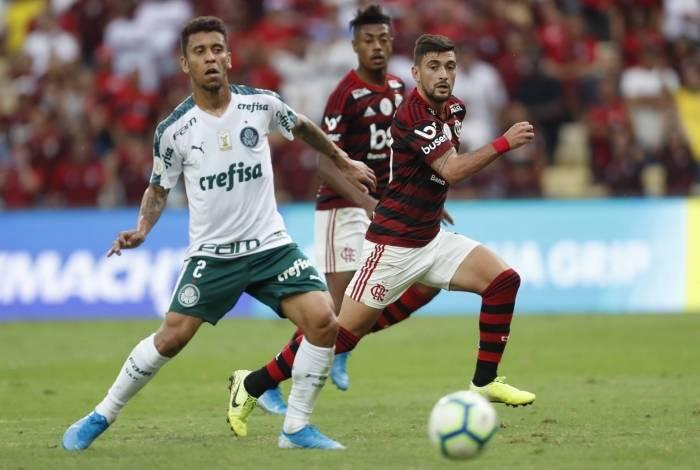Rio, 01/09/2019, Campeonato Brasileiro jogo valido pela 17 rodada entre Flamengo x Palmeiras, Foto de Gilvan de Souza / Agencia O Dia