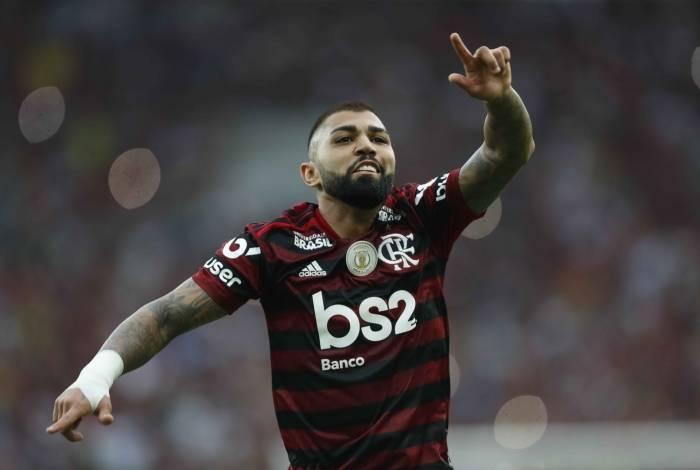 Gabigol marcou dois gols sobre o Palmeiras