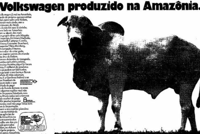 Propaganda pró-desmatamento