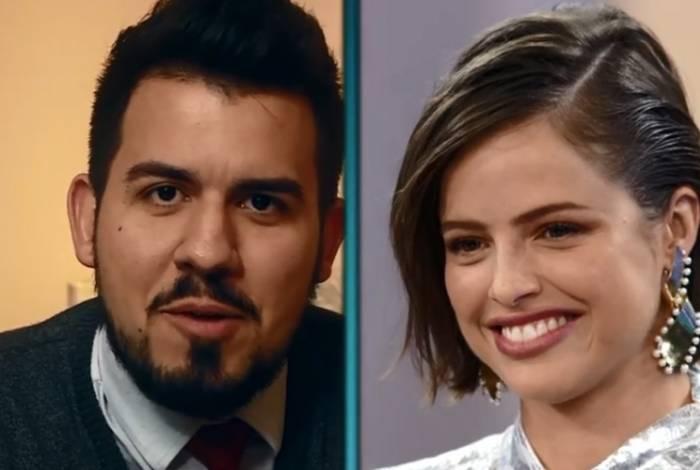 Agatha, o ex-namorado, Kauí Paiva (acima), e a boca dele (E). Abaixo, a atriz e Rodrigo Simas