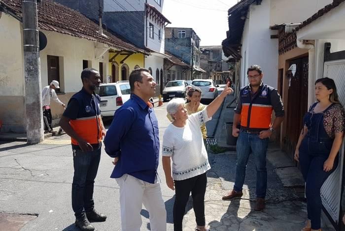 Equipes da Defesa Civil visitaram o bairro