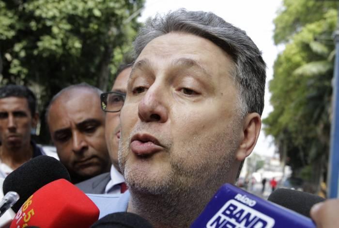 O ex-governador Garotinho saiu da cadeia na manhã de ontem