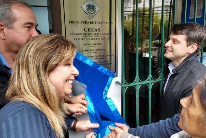 Prefeito Bernardo Rossi esteve na inauguração do CREAS